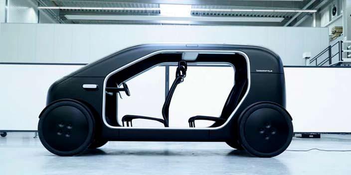 Компактный городской электромобиль Biomega SIN