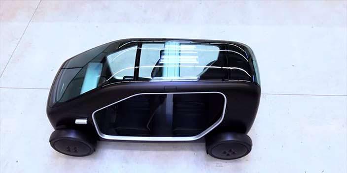 Компактный автомобиль со стеклянной крышей Biomega SIN