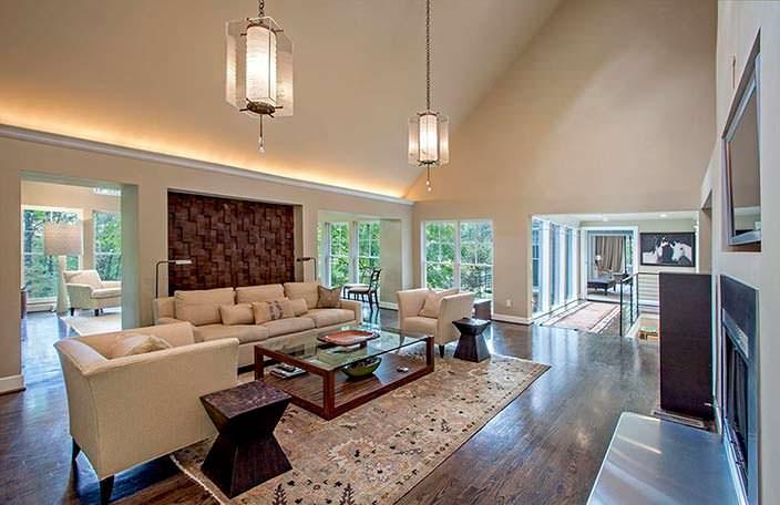 Большая гостиная в доме Николь Кидман