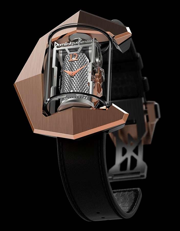 Часы в цилиндре из сапфира Donimique Renaud DR01
