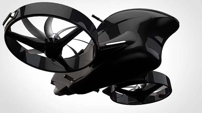 Гиродрон VTOL - персональный летательный мотоцикл