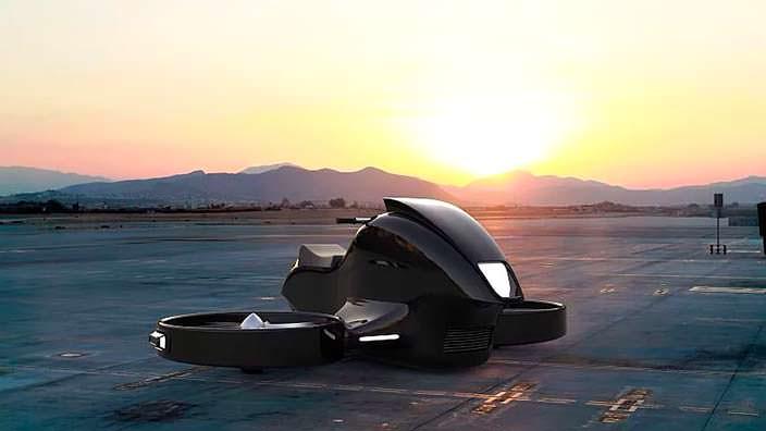 Гиродрон VTOL - летательный мотоцикл будущего