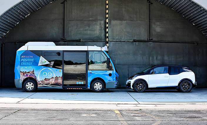 Электроавтобус Karsan Jest трансмиссии от BMW i3