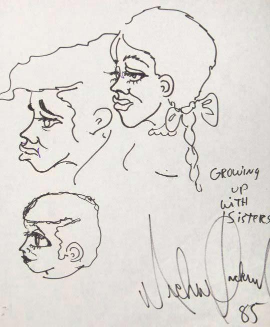 Рисунок сестер Майкла Джексона - Джанет, Ребби и Ла Тойи