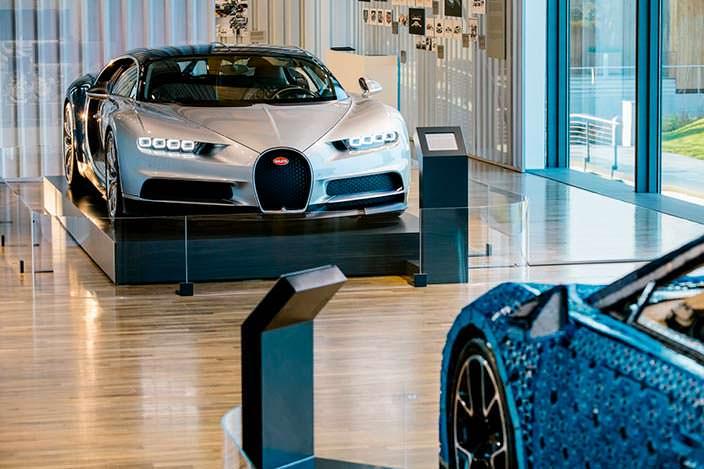Bugatti Chiron в музее Autostadt при заводе Volkswagen