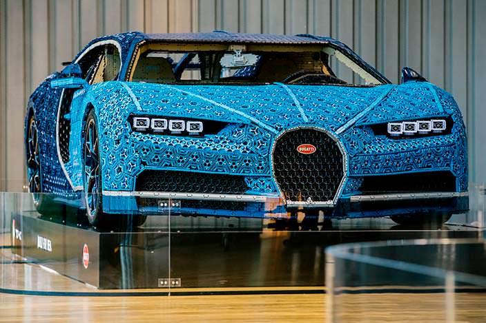 Lego Bugatti Chiron в музее Volkswagen