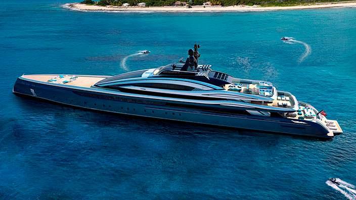 Новая 100-метровая яхта Crossbow от Hydro Tec