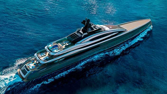 100-метровая яхта Crossbow от Hydro Tec