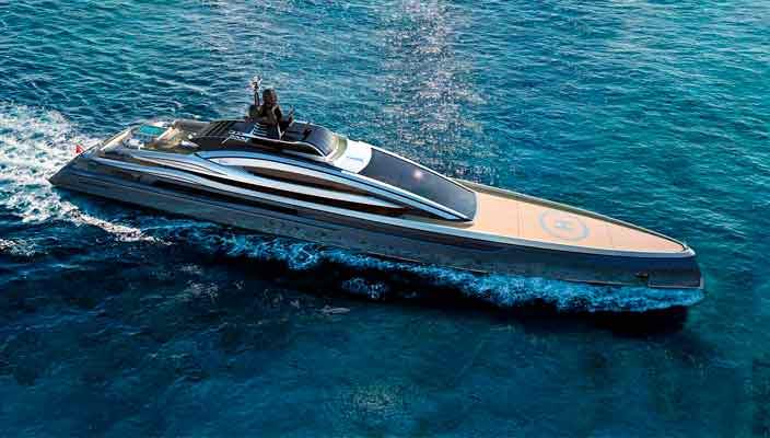 Показана новая 100-метровая яхта Crossbow от Hydro Tec | фото