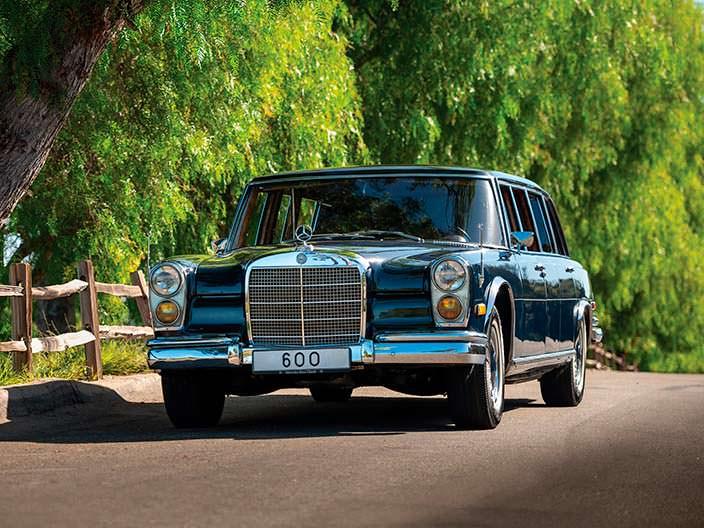 Винтажный лимузин Mercedes-Benz 600 Pullman 1969 года выпуска