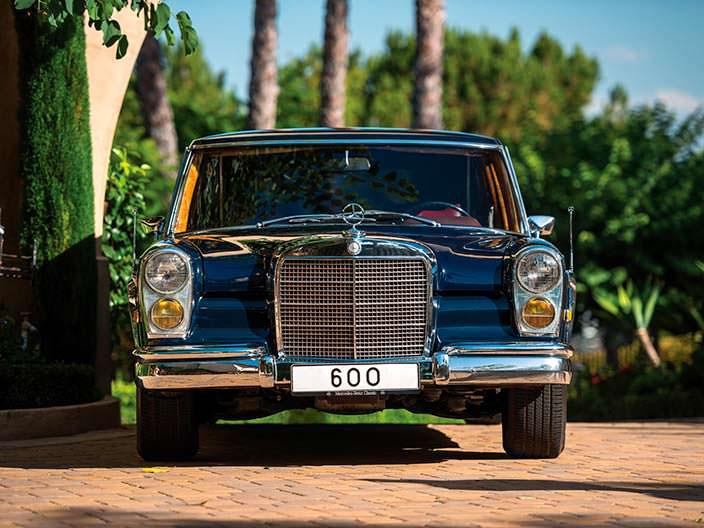 Ретро-лимузин Mercedes-Benz 600 Pullman 1969 года