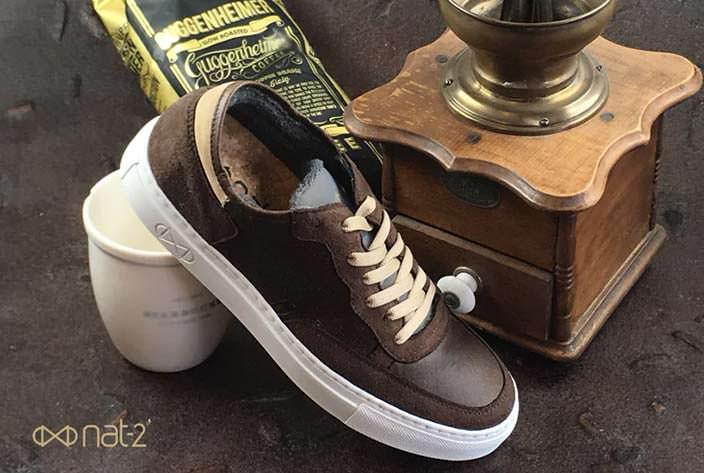 100% веганская обувь из переработанного кофе от Nat-2