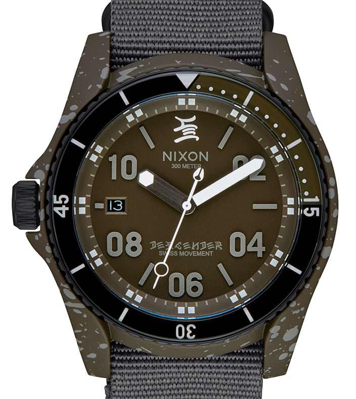 Часы с водозащитой 300 метров Nixon C.R. Stecyk III Descender