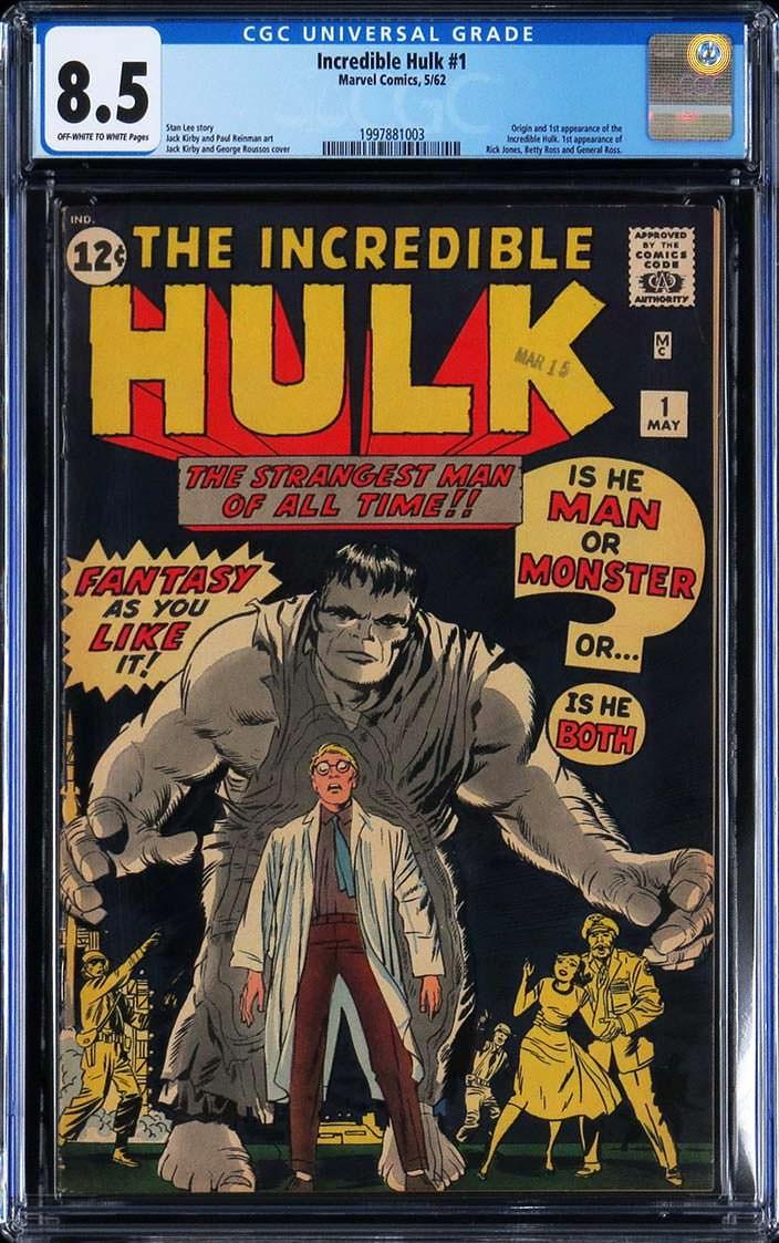 Первое издание комикса «Невероятный Халк». Цена от $125000