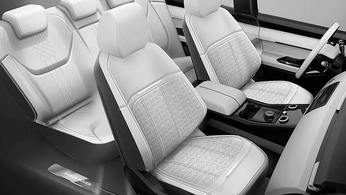 Компоновка салона Range Rover Evoque