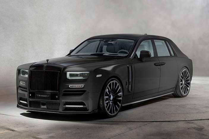 Черный Rolls-Royce Phantom VIII. Тюнинг от Mansory