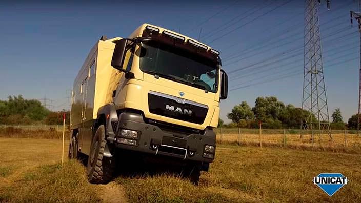Трехосный экспедиционный грузовик Unicat MD75HMB+WT69