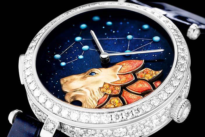 Женские бриллиантовые часы Van Cleef & Arpels Zodiac Lumineux