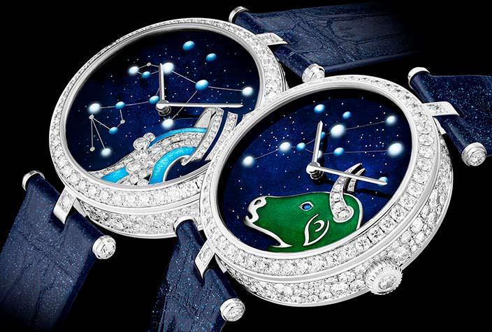 Женские бриллиантовые часы Van Cleef & Arpels в честь 12 знаков зодиака