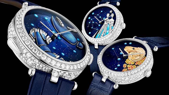 Женские зодиакальные часы Van Cleef & Arpels Lady Arpels Zodiac Lumineux