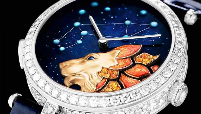 Вышли бриллиантовые часы в честь Зодиака от Van Cleef & Arpels