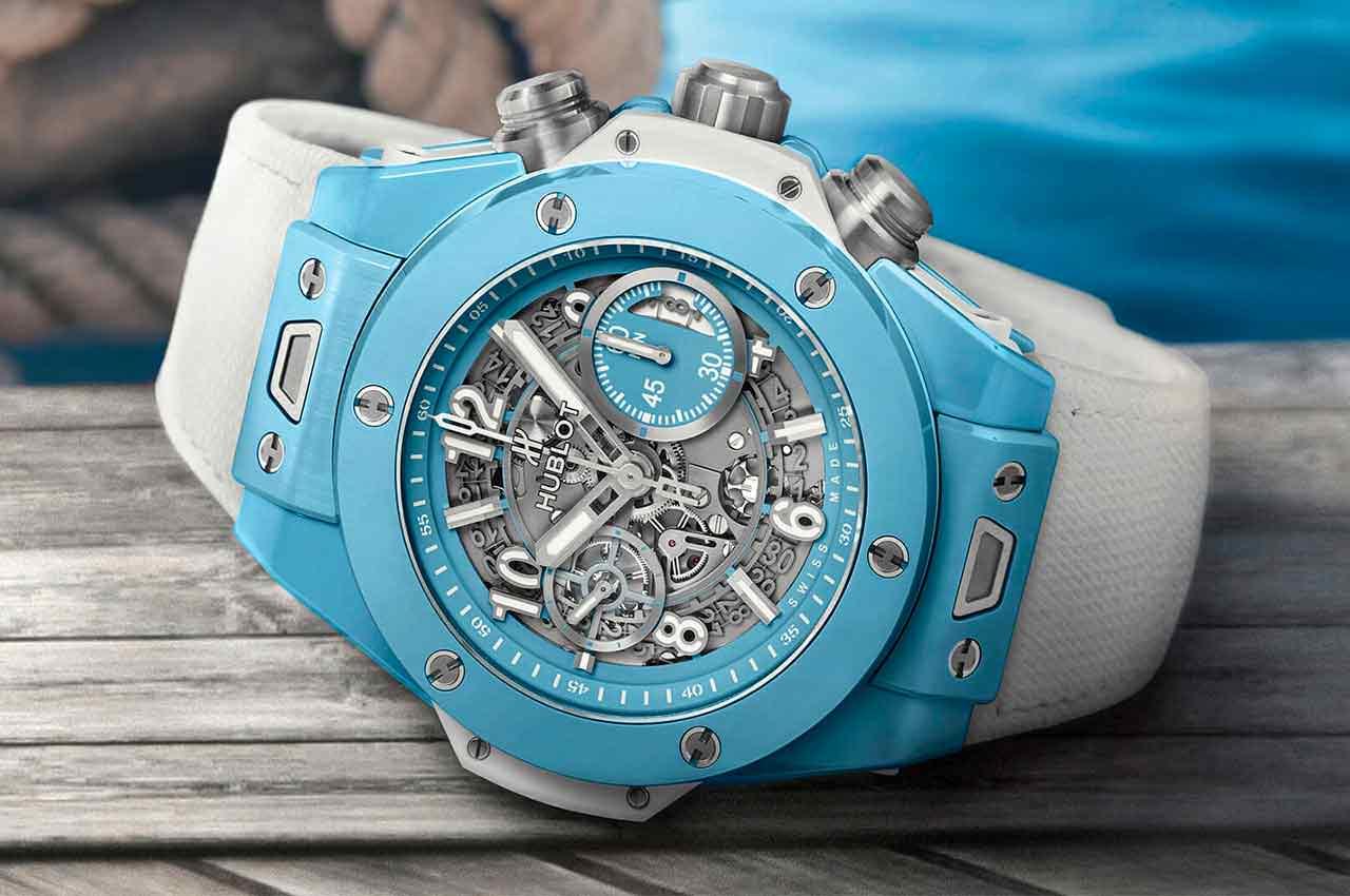 Hublot выпустил лимитированные часы Big Bang Unico 45 Sky Blue