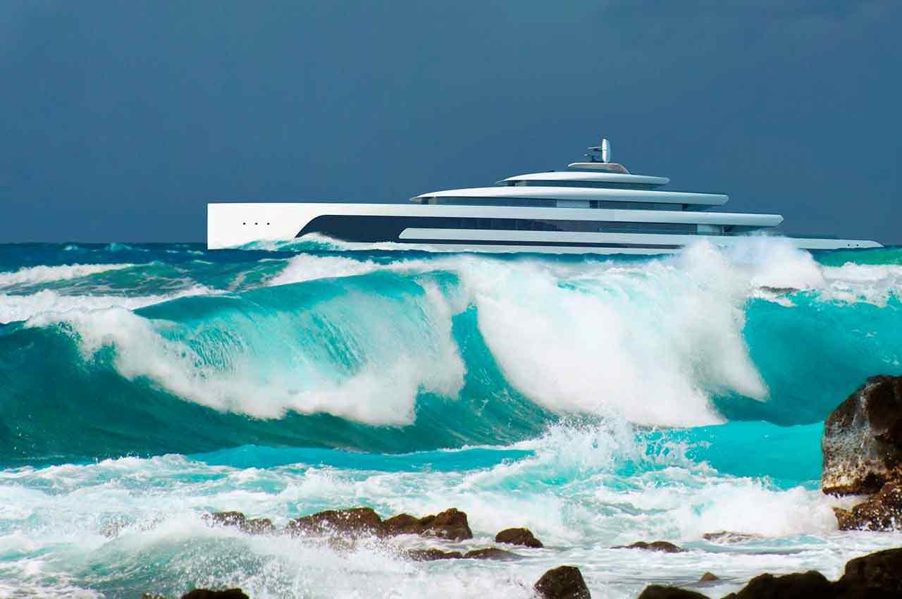 110-метровая яхта Kiwa от Isaac Burrough Design | фото