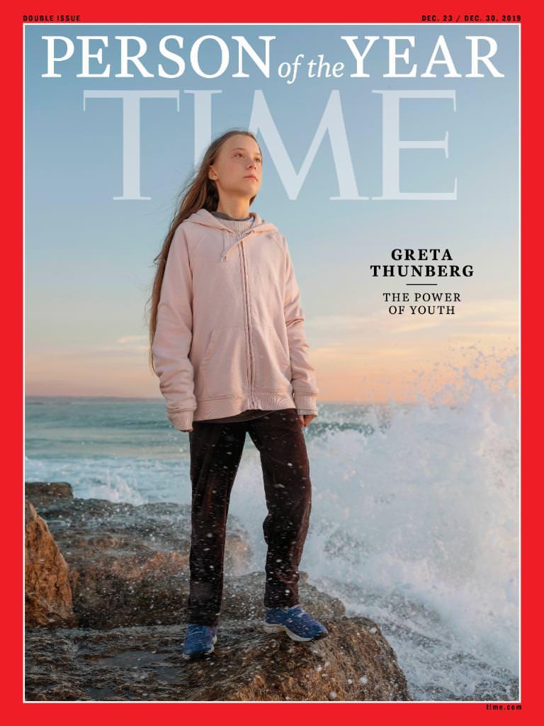 2019 год. Грета Тунберг на обложке Time