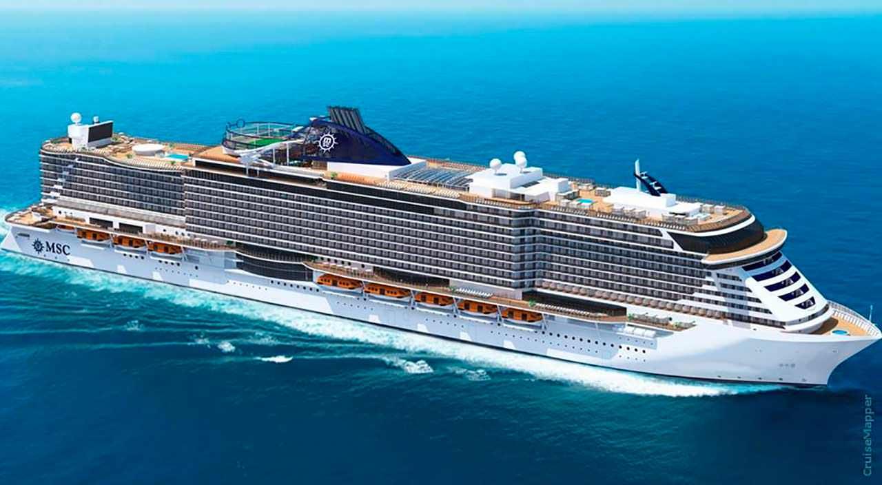 Огромный круизный лайнер MSC Seashore