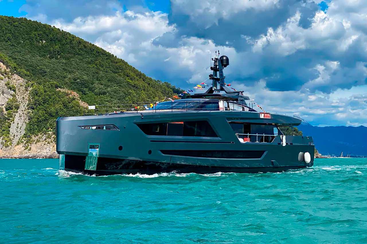 Верфь Baglietto запустила 40-метровую яхту Panam | фото