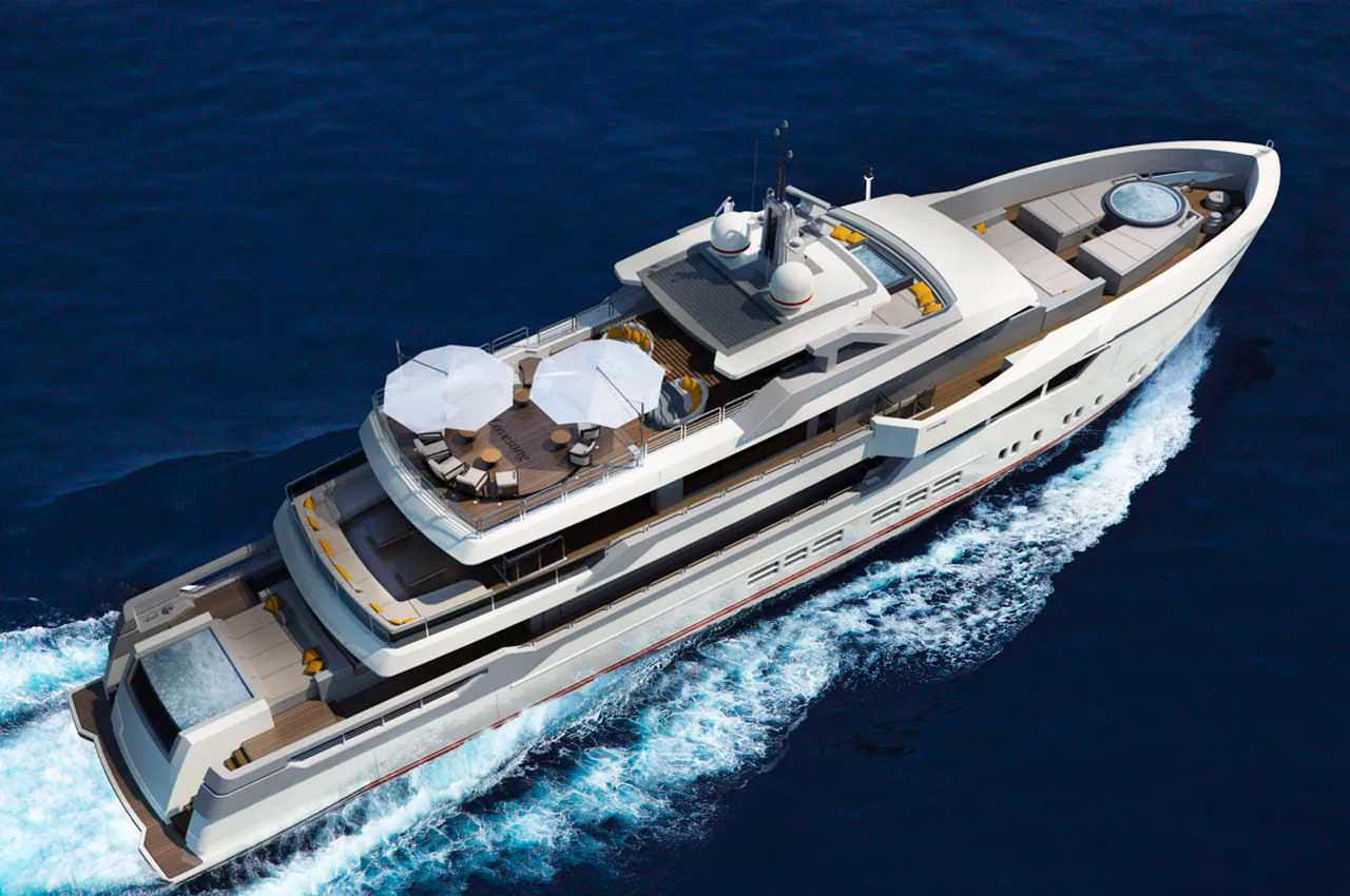 Джан Паоло Нари представил концепт 45-метровой яхты Lovesong