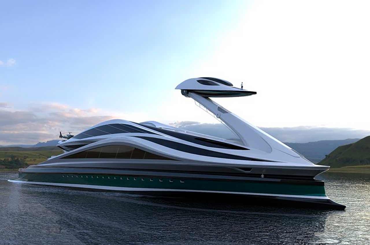 Avanguardia - мегаяхта в виде лебедя от Lazzarini Design