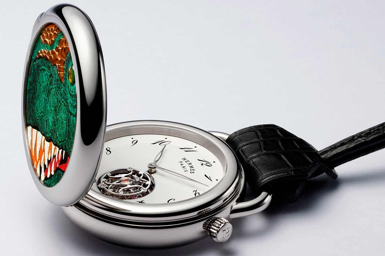 Hermès выпустил винтажные карманные часы с турбийоном