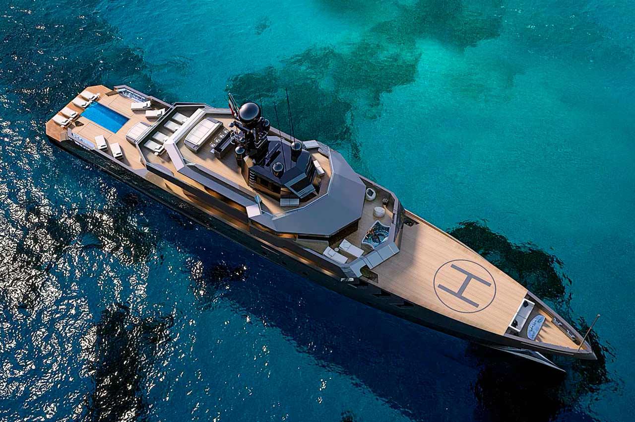 Antonini Navi показала яхту в милитари-стиле OPV 56 Project