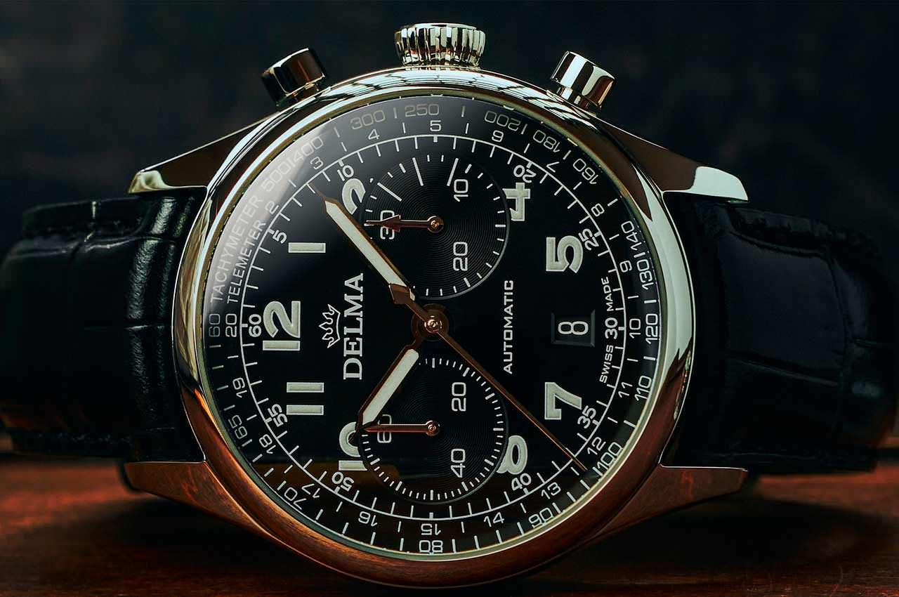 Delma представила часы в винтажном стиле Heritage Chronograph ⌚