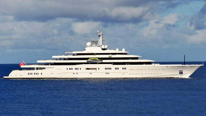 Самая дорогая яхта в мире #2 Eclipse. Цена $1,2 млрд.