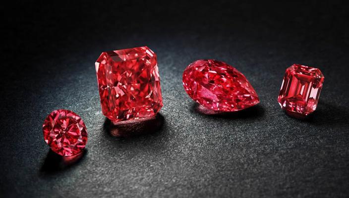 Коллекция красны бриллиантов концерна Rio Tinto