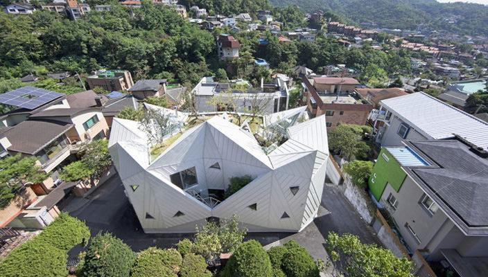 Уникальный дом в виде цветка в Сеуле   фото, инфо