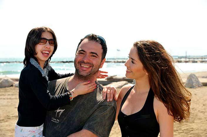 Наталия Орейро с мужем и сыном