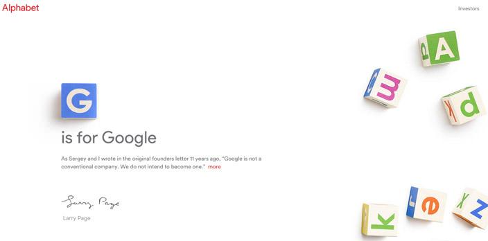 Основателями Google создана компания Alphabet