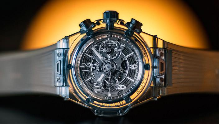Сапфировые часы Hublot Big Bang Unico Sapphire | фото