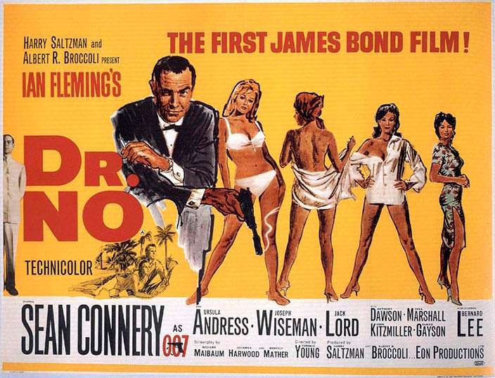 Постер «Доктор Ноу» (Dr. No), 1962 год