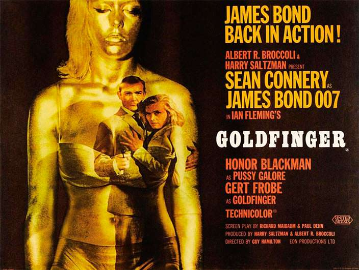 Постер «Голдфингер» (Goldfinger), 1964 год