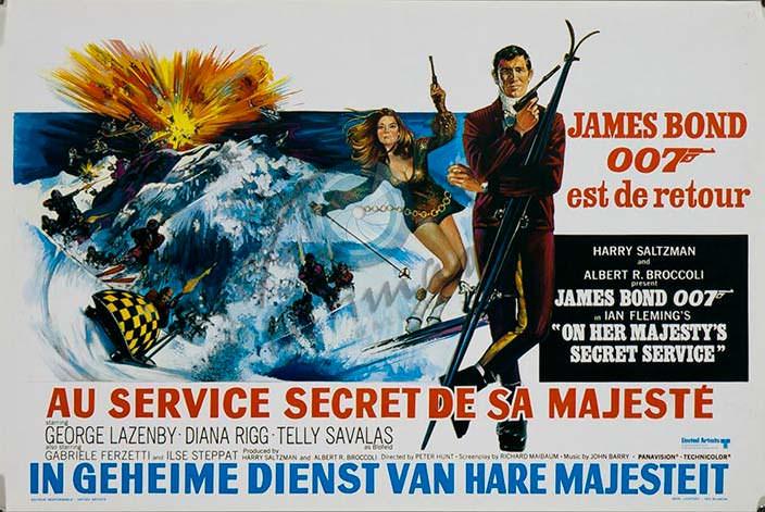 Постер «На секретной службе Её Величества» (On Her Majesty's Secret Service), 1969 год