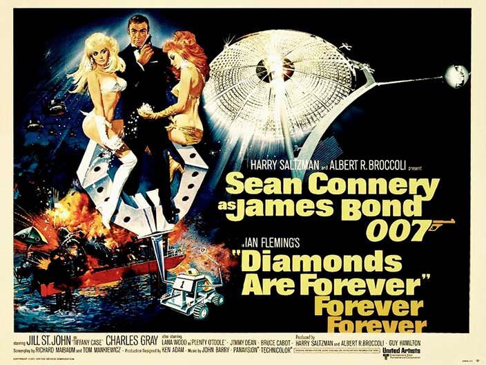 Постер «Бриллианты навсегда» (Diamonds Are Forever), 1971 год