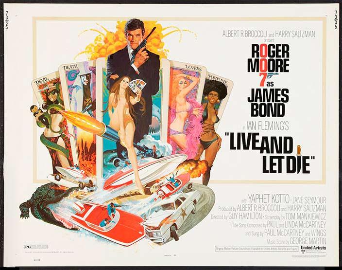 Постер «Живи и дай умереть» (Live And Let Die), 1973 год