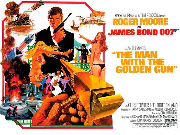 Постер «Человек с золотым пистолетом» (The Man With The Golden Gun), 1974 год