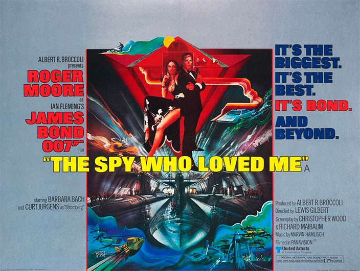 Постер «Шпион, который меня любил» (The Spy Who Loved Me), 1977 год