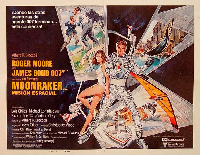 Постер «Лунный гонщик» (Moonraker), 1979 год