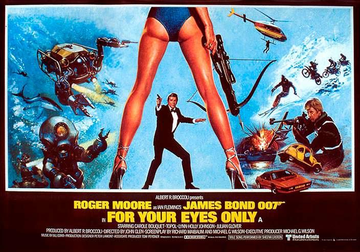 Постер «Только для твоих глаз» (For Your Eyes Only), 1981 год